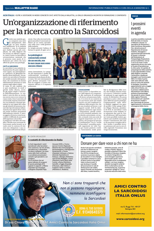 La Repubblica racconta ACSI Italia Onlus