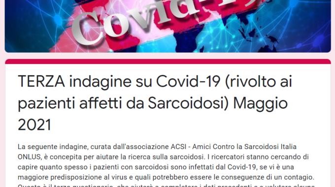 Sarcoidosi E Covid-19: Al Via La TERZA Indagine Per Aiutare La Ricerca (maggio 2021)