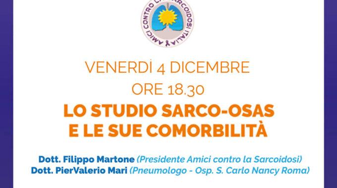 4 Dicembre 2020: ACSI Relatrice Al WEBINAR Su  Il Presidente Di ACSI, Filippo Martone, Sarà Corelatore Ad Un Webinar Su OSAS E Sarcoidosi,organizzato Da APNOICI ITALIANI ONLUS